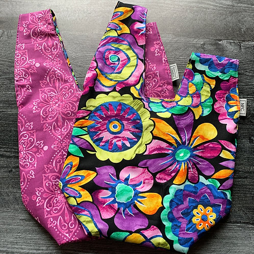 Floral Stained Glass Knot Bag