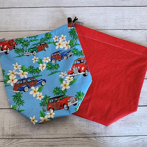 Cruiser/Red Microdot  Drawstring Bag