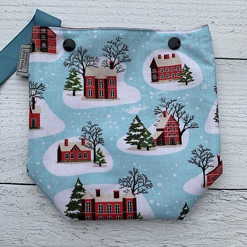 Snowy Houses Snap Sack