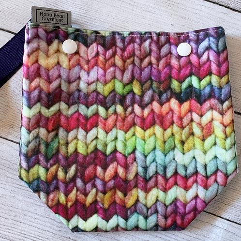 Knit Print Snap Sack