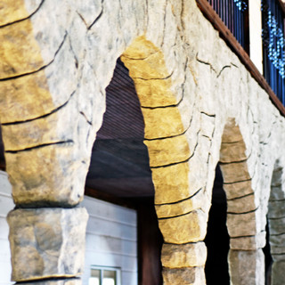 Hand-Carved Stone Balconies