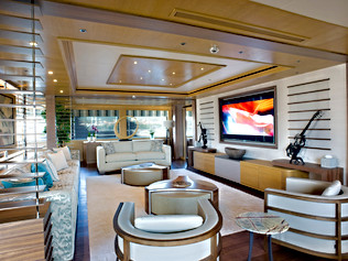 90 Meter Superyacht- Main Saloon