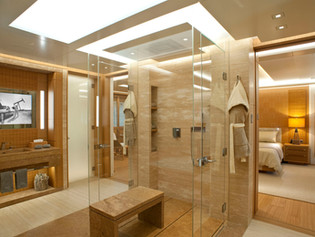 Owners Bathroom 74 Meter Super Yacht