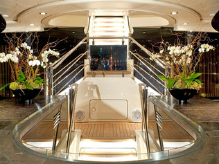 Exterior Stair case 96 Meter Super Yacht