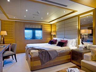 VIP Guest Bedroom 85 Meter Super Yacht