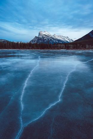 Vermillion Lake Frozen Winter Lines