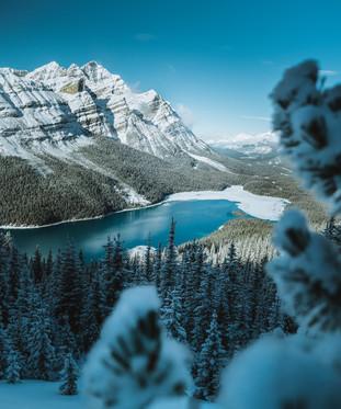 Peyto Lake Winter Freeze up