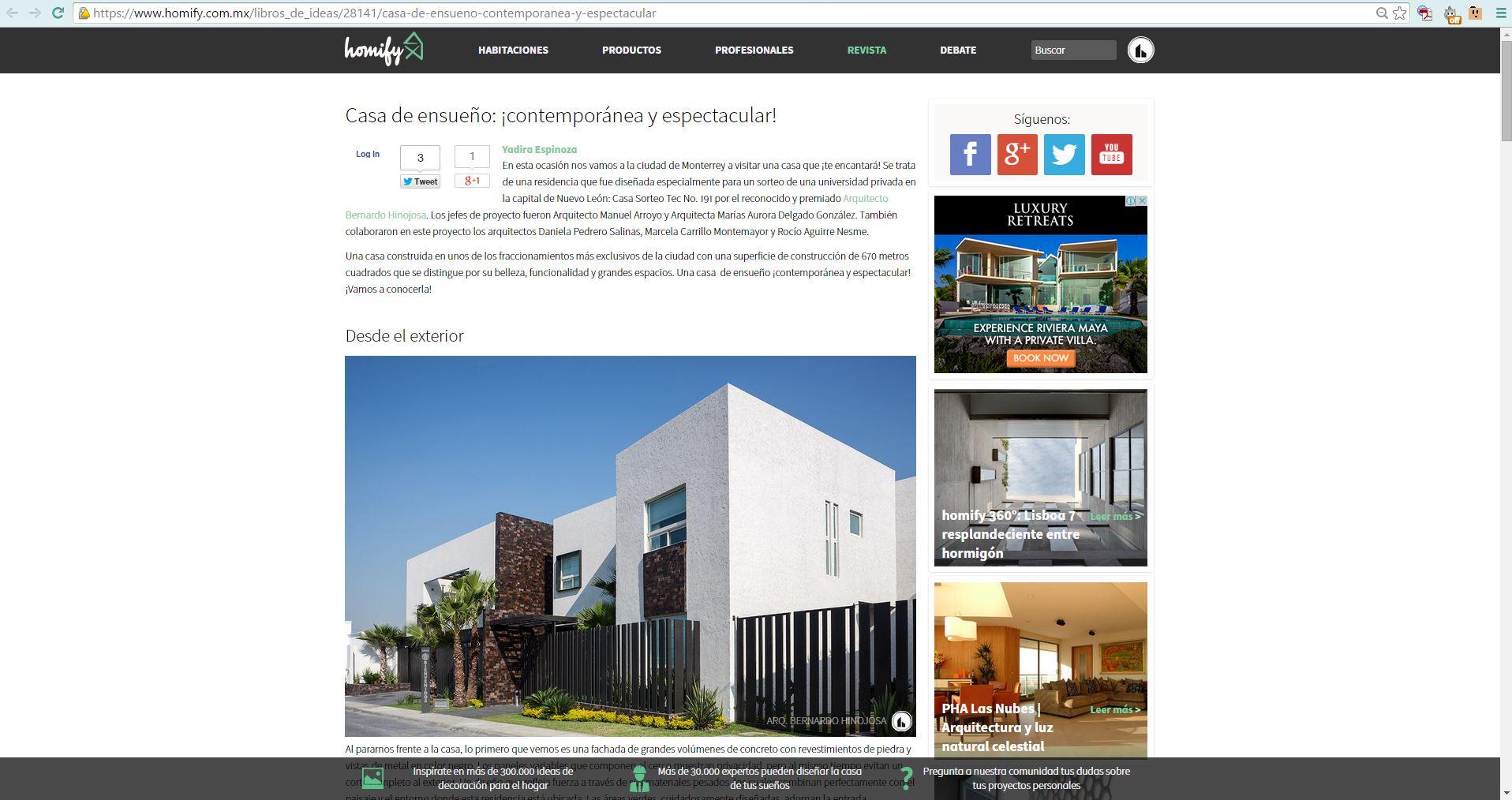 Homify 360 Casa Sorteo Tec 191