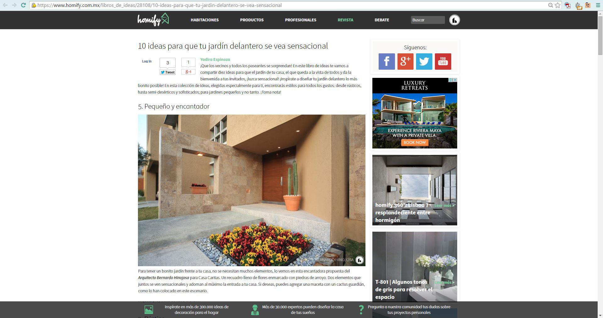 Homify 10 Ideas para el Jardin
