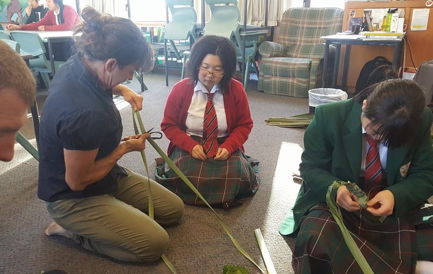 Maori Flax Weaving