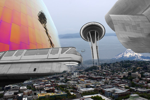 Used Photoshop to merge five of my photos together.