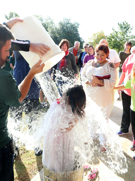 Baptism at Camp Capers