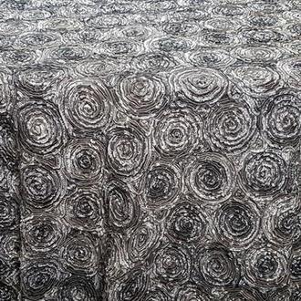 Grey Flat Rosette