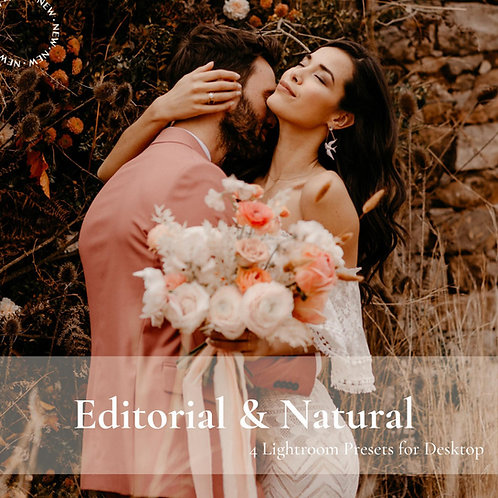 Amethyst vol. I - Editorial and Natural Wedding Lightroom Preset.