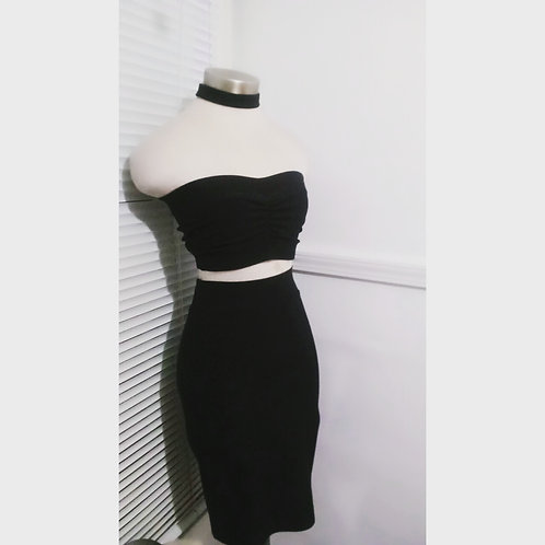 """Power"" Bandeau Skirt Set"