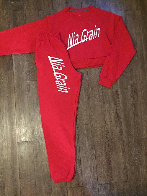 Crop Brand Sweatsuit