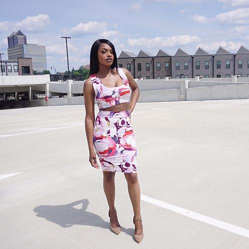 Crop Tank & Skirt Set