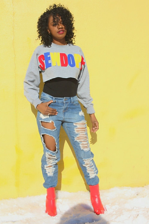 """Sew Dope"" Statement Sweatshirt"