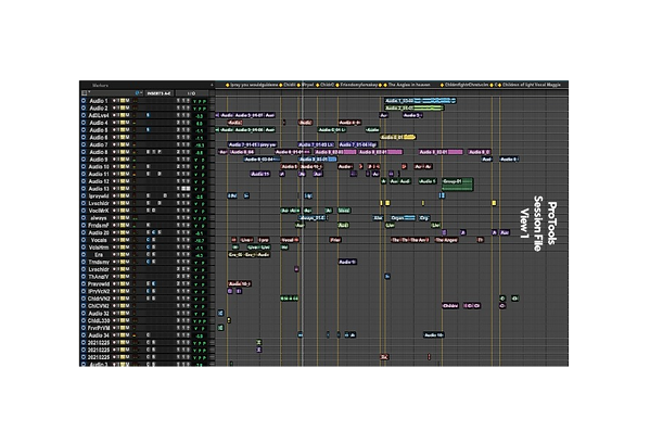 ProTools Session File View 1