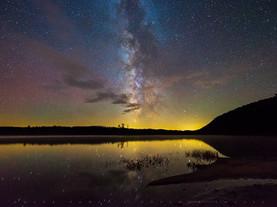 Clouds & Milky Way, Moss Lake, Adirondacks, New York