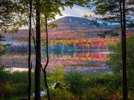 Autumn Evening Sidelight, Blue Mountain & Lake Durant, Adirondacks, New York