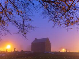 Quaker Meeting House by Dawn's Early Light, Adams, Massachusetts