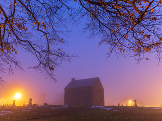 Quaker Meeting House by Dawn's Early Light, Adams, Massachusetts