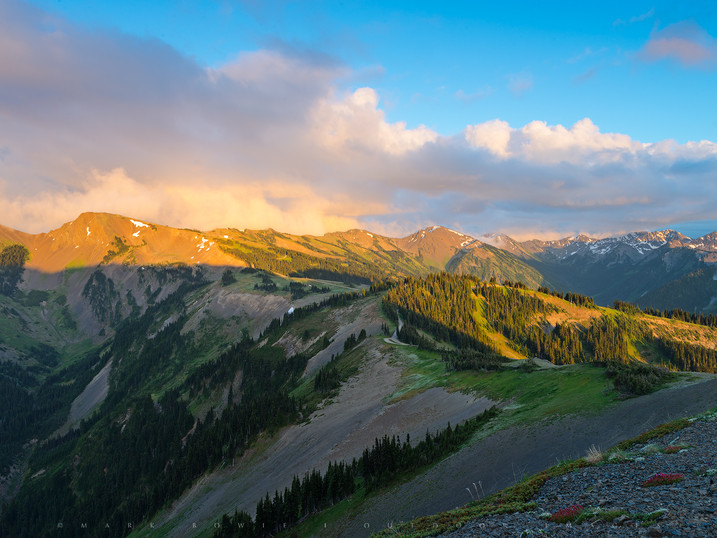 Stormlight, Obstruction Point, Olympic National Park, Washington