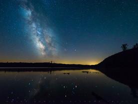 Starry Night Milky Way, Moss Lake, Adirondacks, New York