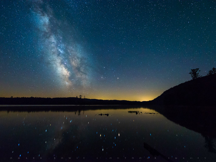 Starry Night Milky Way, Moss Lake, Adirondacks, New York