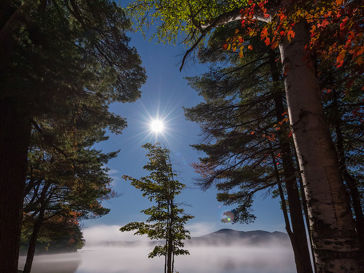 Crowned by Moonlight, Lake Eaton, Adirondacks, New York