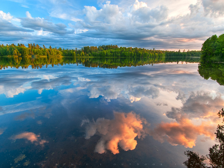 Brewing Storm Clouds Reflected in Rollins Pond, Adirondacks, New York
