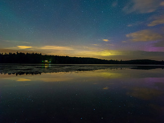 Asterism in a Luminous Sky, Plainfield Pond, The Berkshires, Massachusetts