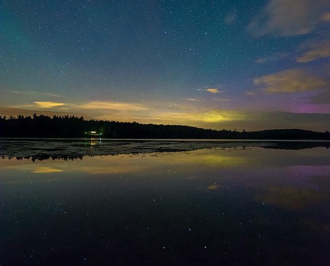 Asterism in a Luminous Sky, Plainfield Pond, The Berkshires, Massachusetts
