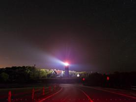 Night Road to Nauset Light, Cape Cod National Seashore, Massachusetts