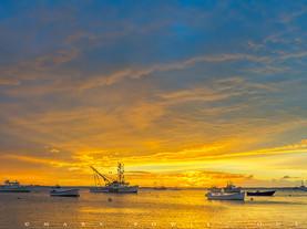 Approaching Storm at Sunrise, Chatham, Cape Cod, Massachusetts