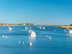 Aligned, Chatham Harbor, Cape Cod, Massachusetts