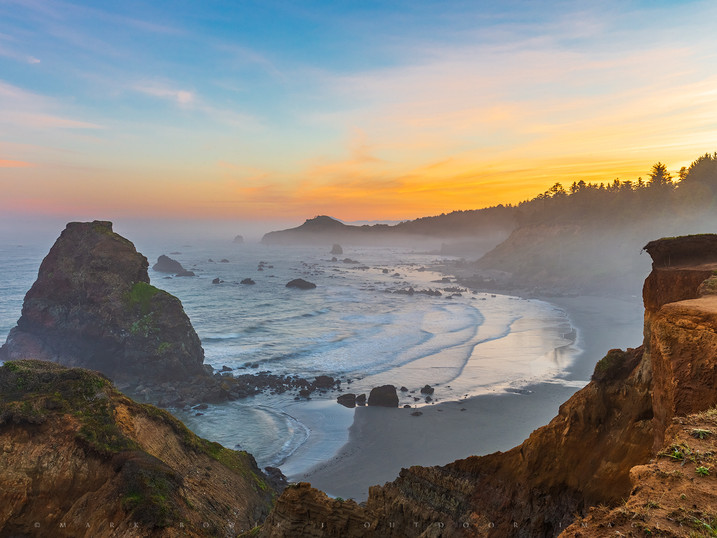 Pastels, Otter Point, Oregon