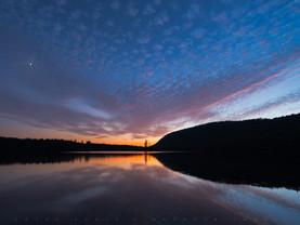 Twilight Moon, Moss Lake, Adirondacks, New York