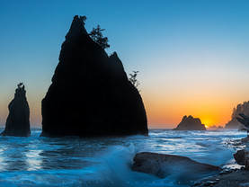 Sunset Wave, Rialto Beach, Olympic National Park, Washington