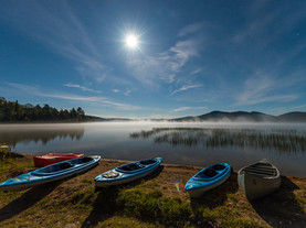 Moonlit Kayaks, Lake Eaton, Adirondacks, New York