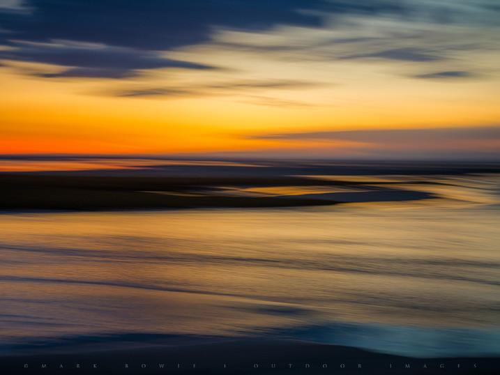 Twilight Blur, Paines Creek Landing, Cape Cod, Massachusetts