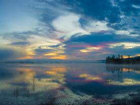 Painted Sky Reflected in Raquette Lake, Adirondacks, New York