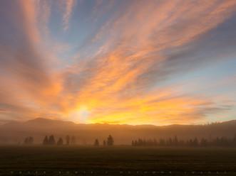 Radiating Rays of Sunrise, Near Lake Placid, Adirondacks, New York