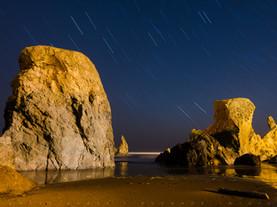 Star Trails & Sea Stacks, Bandon Beach, Oregon