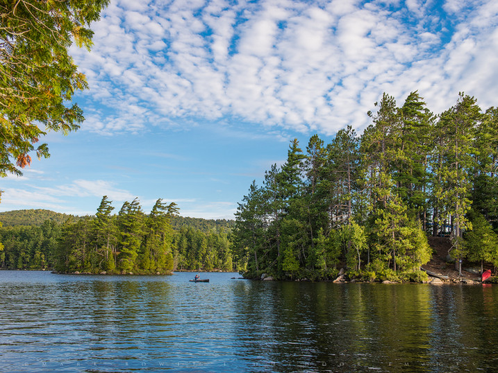 Canoe Camping, Lower Saranac Lake, Adirondacks, New York