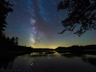 Star Trails & Milky Way, Lower Brown's Tract Pond, Adirondacks, New York
