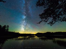 Milky Way & Airglow, Lower Brown's Tract Pond, Adirondacks, New York
