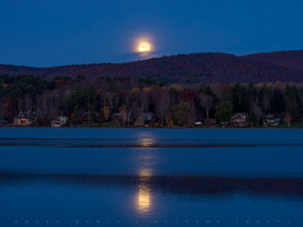 Onota Moonset, Pittsfield, The Berkshires, Massachusetts