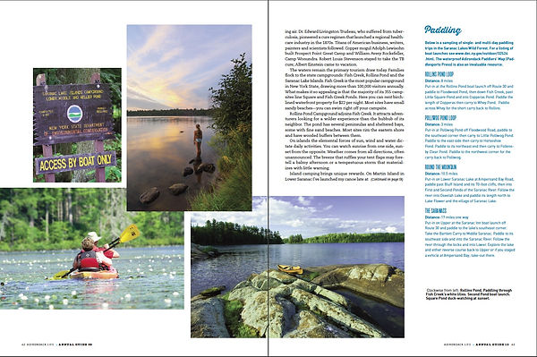 Summer in Saranacs article page spread.j